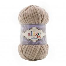Пряжа для вязания Ализе Velluto (100% микрополиэстер) 5х100г/68м цв.530 бежевый