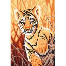 Набор юного художника Molly KH0854 Любопытный тигренок (12 Цветов) 20х30 см