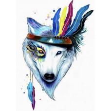 Набор Цветной для изготовления картины со стразами LGP003 Собака-индеец 40х50