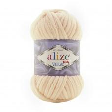 Пряжа для вязания Ализе Velluto (100% микрополиэстер) 5х100г/68м цв.310 медовый