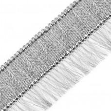 Тесьма-бахрома TBY-001/5096 шир.70 мм цв.серебро уп.11.89м