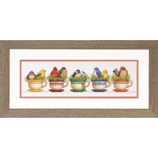 Набор для вышивания DIMENSIONS DMS-70-35394 Птицы в чайных чашках 48,3x15,2 см