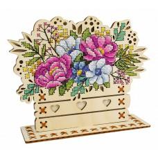 Набор для вышивания Щепка О-018 Цветочная композиция 14х17 см