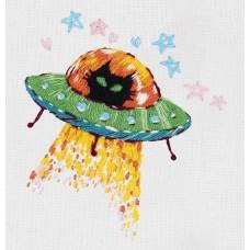 Набор для вышивания PANNA Живая картина  JK-2203 Космический кот 6х7см