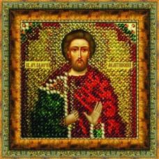 Рисунок на ткани Вышивальная мозаика  4122 Икона Св. Мученик Валерий 6,5х6,5 см