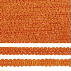 Тесьма TBY Шанель плетеная шир.8мм 0384-0016 цв.23 т.оранжевый уп.18,28м