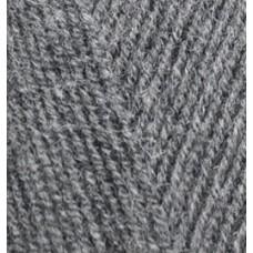 Пряжа для вязания Ализе LanaGold Fine (49% шерсть, 51% акрил) 5х100г/390м цв.182 средне-серый меланж