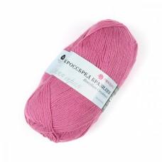 Пряжа для вязания ПЕХ Кроссбред Бразилия (50% шерсть, 50% акрил) 5х100г/490м цв.582 св.фуксия
