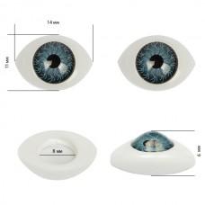 Глаза круглые выпуклые цветные TBY 14мм цв.серый уп.10шт