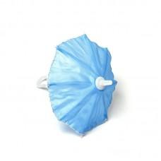 Зонт маленький КЛ.22941 16см пластмассовый голубой