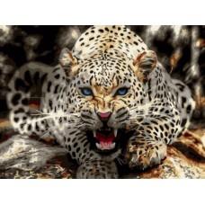 Картины по номерам Леопард перед броском EX5818 30х40 тм Цветной