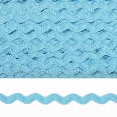 Тесьма декоративная Вьюнчик TBY.64312 шир.5мм цв.F203 голубой уп.32,92м