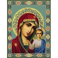 Картины мозаикой Molly KM0293 Казанская Божия Матерь 30х40 см
