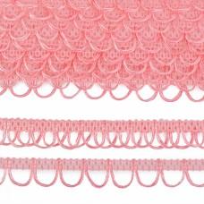 Тесьма отделочная UU цв.135 розовый шир.18-19мм уп.16,45м