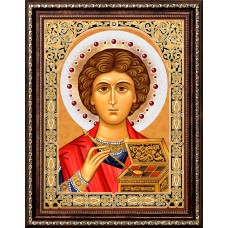 Набор для изготовления картин АЛМАЗНАЯ ЖИВОПИСЬ АЖ.1847 «Икона Пантелеймон Целитель» 30х40 см