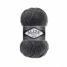 Пряжа для вязания Ализе Superlana maxi (25% шерсть, 75% акрил) 5х100г/100м цв.182 средне-серый меланж