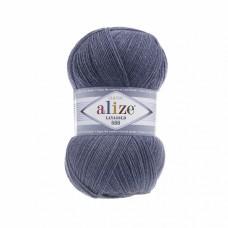 Пряжа для вязания Ализе LanaGold 800 (49% шерсть, 51% акрил) 5х100г/800м цв.203 джинс меланж