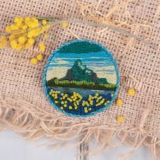 Набор для вышивания PANNA Живая картина  ЖК-2144 Брошь. Горные цветы 5,5х5,5 см