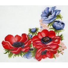 Набор для вышивания ИВАНКА 0-05 Анемоны 50х50 см