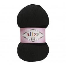 Пряжа для вязания Ализе Extra Life (100% акрил) 5х100г/480м цв.927 черный