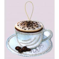 Наборы для вышивания декоративных игрушек BUTTERFLY  F089 Чашка кофе