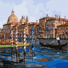 Картины по номерам Molly KH0719 Каналы Венеции (20 цветов) 30х30 см