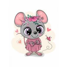 Набор юного художника Molly KH0913 Милая мышка (12 Цветов) 20х20 см
