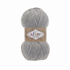 Пряжа для вязания Ализе Alpaca Royal (30% альпака, 15% шерсть, 55% акрил) 5х100г/280м цв.021 св.серый меланж