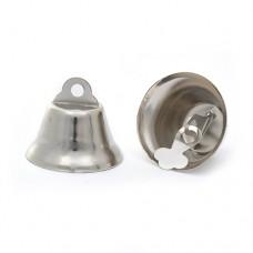 Колокольчик 26мм TBY.72601 цв.серебро уп.30шт