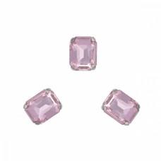 Стразы пришивные в цапах стекло TBY MS.31.P цв.светло-розовый 8х10 мм, уп. 50шт