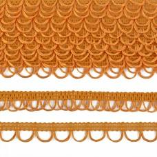 Тесьма отделочная UU цв.122 желтый шир.18-19мм уп.16,45м