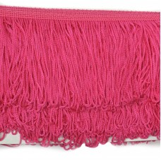 Бахрома шелковая FD-10 шир.10см цв.028 ярк.розовый уп.10м