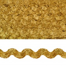 Тесьма декоративная Вьюнчик TBY.64314 шир.5мм цв.золото уп.32,92м