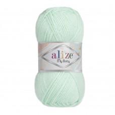 Пряжа для вязания Ализе My Baby (100% акрил) 5х50г/150м цв.019 водяная зелень
