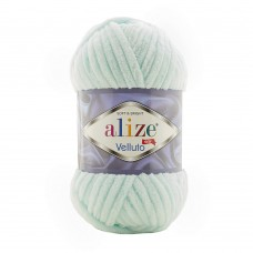 Пряжа для вязания Ализе Velluto (100% микрополиэстер) 5х100г/68м цв.015 водяная зелень