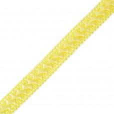 Тесьма TBY декоративная Самоса 06 (15) шир.18мм цв.желтый F110 уп.18,28м