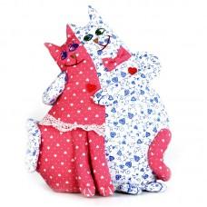 Набор для изготовления текстильной игрушки ПЛ-401 Коты - неразлучники 26 см