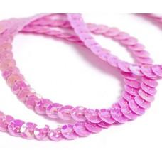 Пайетки на нитях 6мм Cream Colour TBY-FLKU06-CC цв.0089 амарантовый розовый уп.73.12м