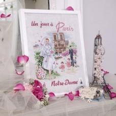 Набор для вышивания на льне День в Париже: Нотр Дам Les brodeuses parisiennes