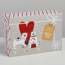 Коробка складная Волшебного Нового года, 16x23x7.5 см 4442909