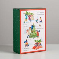 Коробка складная Новый год, 16x23x7.5 см 5017551